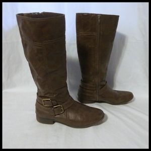 Nine West Brown Boots with Buckles and Straps